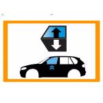 Vetro laterale auto SCENDENTE A/DX X1/9 V - SCENDENTE ANTERIORE DESTRO