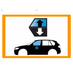 Vetro laterale auto SCENDENTE A/SX PATRIOT VR - SCENDENTE ANTERIORE SINISTRO