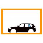 Vetro laterale auto BMW X5 E53 SUV 5 PORTE 00-06 FP SX VR SEKURISOL SERIGRAFIA  - Fisso Posteriore Verde securisol
