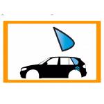 Vetro laterale auto NISSAN SUNNY N13 3P HB 86-90 FISSO P CAR SX BLU SERIGRAFIA APRIBILE 3 FORI  - Fisso Posteriore - Vetro apri