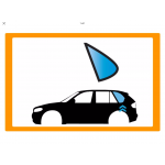 Vetro laterale auto VOLVO 765 - 960 5P SW 83-90 FISSO P CAR SX VR SERIGRAFIA  - Fisso Posteriore