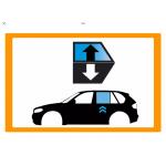 Vetro laterale auto RENAULT CLIO-SYMBOL-THALIA 98- SCEND. POST. SX VR SEKURISOL 2 FORI  - Scendente Posteriore Verde securisol