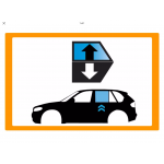 Vetro laterale auto SEAT ATECA SUV 5 PORTE 16- SCEND. POST. SX VR VENUS ACCESSORI 2 FORI  - Scendente Posteriore