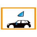 Vetro laterale auto PEUGEOT 207-207+ 06-13 FA SX VR SEKURISOL INCAPSULATO SERIGRAFIA  - Vetro Fisso Anteriore Verde securisol