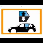 Vetro laterale auto OPEL GRANDLAND X SUV 5 PORTE 17- SCEND POST DX GRIGIO VENUS 2 FORI...