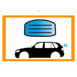 FIAT 500X 5P SUV 2015- LUNOTTO RISCALDATO GRIGIO P