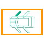 Alzavetro auto  porta Anteriore lato  DESTRO per  Fiat 128 Alzacristallo manuale / Manual window regulator / Elevalunas manual