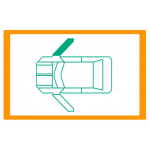 Alzavetro auto  porta  lato  DESTRO per  Renault SuperCinque / Super 5  Alzacristallo manuale / Manual window regulator / Eleval