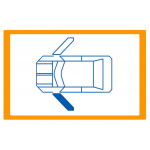 Alzavetro auto  porta  lato  SINISTRO per  Fiat 600 (19982010) Alzacristallo manuale / Manual window regulator / Elevalunas manu