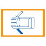 Alzavetro auto  porta  lato  SINISTRO per  Volkswagen Fox (5/2005) Solo meccanismo per motori originali a 2 contatti / Mechanica