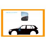 PIASTRA SPECCHIO DESTRA CONVESSA-TERMICA CROMATA per SMART - FORFOUR - Mod. 09/14 -