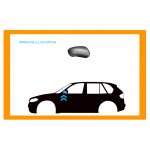 CALOTTA RETROVISORE SINISTRO NERA GRANDE per SEAT - IBIZA - CORDOBA - Mod. 09/99 - 05/02
