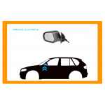 RETROVISORE SINISTRO A CAVI CON PRIMER-CONVESSO/CROMATO per FIAT - 500 - Mod. 07/07 - 06/15