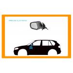 RETROVISORE DESTRO A CAVI-NERO-CONVESSO/CROMATO-PICCOLO-MOD. 01  per SEAT - AROSA - Mod. 12/00 - 12/04