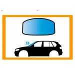MERCEDES CLK CAB 97-PARABREZZA BLU CON FASCIA GRIG