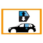Vetro laterale auto OPEL KARL 5P HB 15- SCEND POST DX VR SEKURISOL 1 FORO  - Scendente...